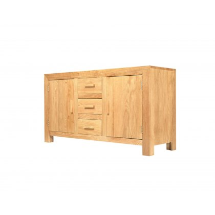 Oak City - Cuba Chunky Oak Large Sideboard