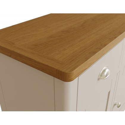 Oak City - Dorset Painted Truffle Grey Oak 3 Door 3 Drawer Large Sideboard