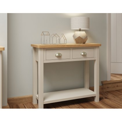 Oak City - Dorset Painted Truffle Grey Oak Console Table