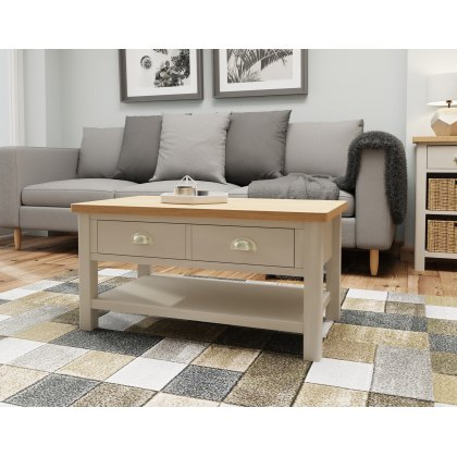 Oak City - Dorset Painted Truffle Grey Oak Coffee Table