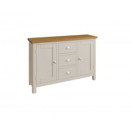 Oak City - Dorset Painted Truffle Grey Oak 2 Door 3 Drawer Large Sideboard