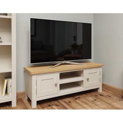 Oak City - Dorset Oak 120cm Large TV Unit For Screens Up To 55"