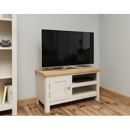 Oak City - Dorset Oak 90cm Small TV Unit For Screens Up To 42"