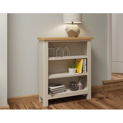 Oak City - Dorset Painted Truffle Grey Oak Small Bookcase