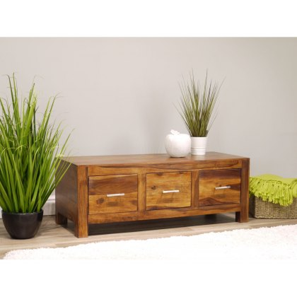 Oak City - Indiana Rosewood 3 Drawer Coffee Table