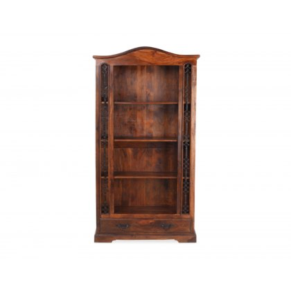 Oak City - Maharajah Indian Rosewood Tall Bookcase - 1 Drawer