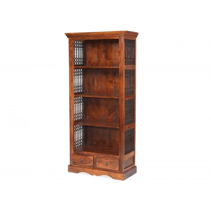 Oak City - Maharajah Indian Rosewood Bookcase with 2 Drawers