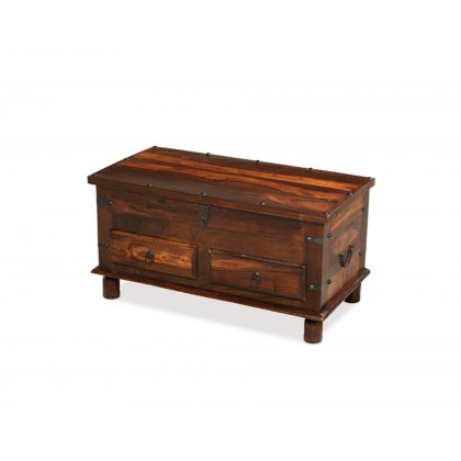 Oak City - Maharajah Indian Rosewood Thacket 2 Drawer Coffee Trunk