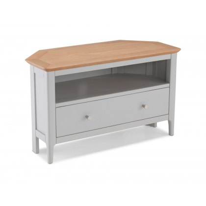 Oak City - Marlow Painted 87cm Corner TV Unit with Drawer