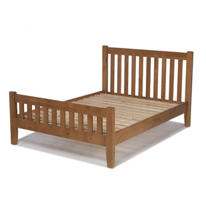 Oak City - Monaco Rustic Oak Bed Frame