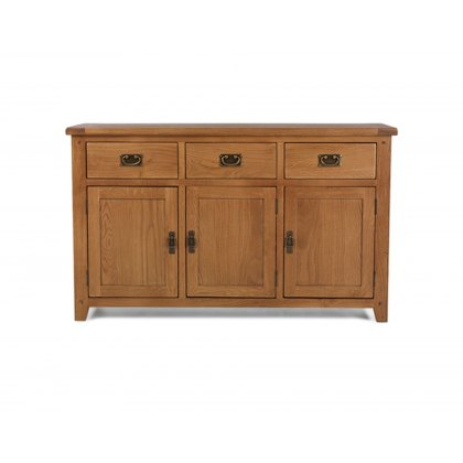 Oak City - Monaco Rustic Oak Large Sideboard