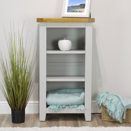 Oak City - Sydney Painted French Grey Small Bookcase