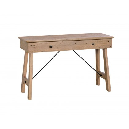 Valetta Reclaimed Wood 2 Drawer Console Table