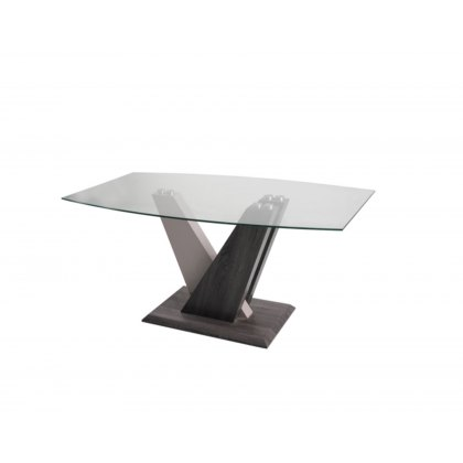 Zen Glass Dining Table with High Gloss Finish