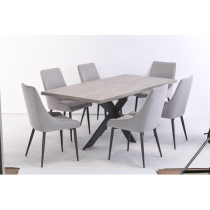 Raven Extending Dining Set (6 Chairs)