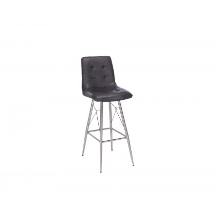 Andrea Grey Upholstered Bar Stool