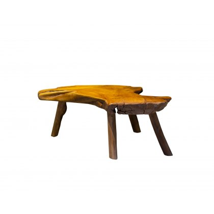 Natural Teak Slice Coffee Table