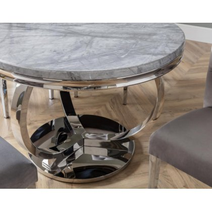 Arundel Marble Round Dining Table Set & 4 Chairs