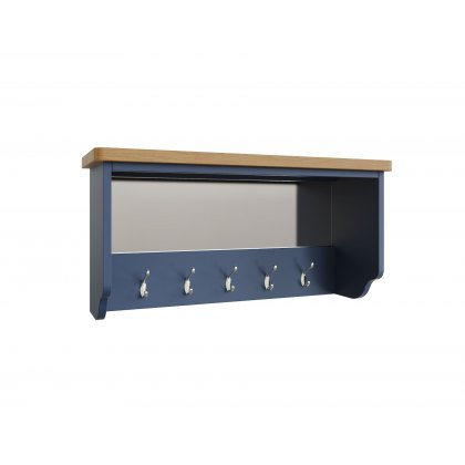 Oak City - Dorset Painted Blue Oak Hall Bench Top
