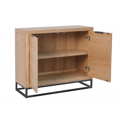 Oak City - Graphite Industrial Oak 2 Door Sideboard