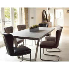 Petra Industrial 160cm Dining Table