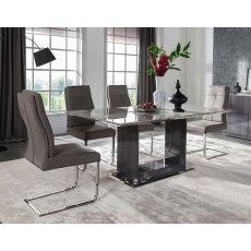 Donatella 1200 Dining Set & 4 Chairs