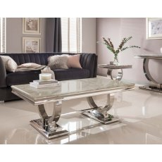 Arianna Cream Marble Coffee Table