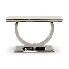 Arianna Cream Marble Console Table