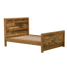 Grant Reclaimed Bedframe with High Footboard