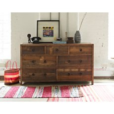 Grant Reclaimed Wood 7 Drawer Wide Chest of Drawers