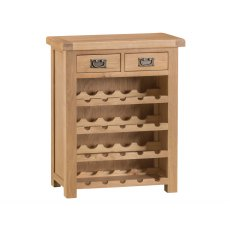 Light Rustic Oak Small Wine Rack