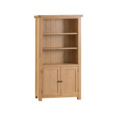 Light Rustic Oak Large Bookcase