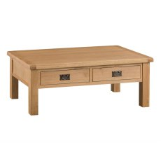 Light Rustic Oak Large Coffee Table
