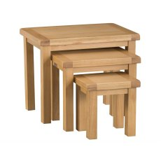 Light Rustic Oak Nest Of 3 Tables