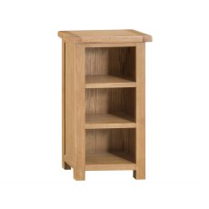 Light Rustic Oak Narrow Bookcase