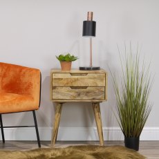 Oak City - Aztec Solid Mango Wood Side Table