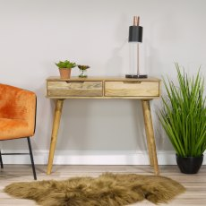 Oak City - Aztec Solid Mango Wood Console Table