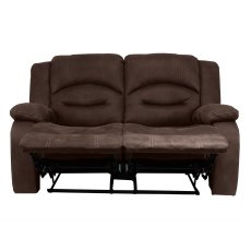 Nova 2 Seater Recliner Sofa in Brown