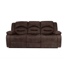 Nova 3 Seater Recliner Sofa Double in Brown