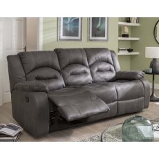 Nova 3 Seater Recliner Sofa Double in Grey