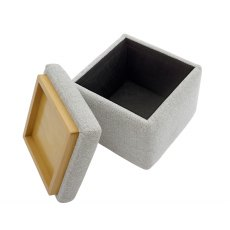 G Plan Spencer Fabric Storage Footstool With Tray