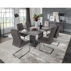 Donatella 1800 Dining Set & 6 Chairs