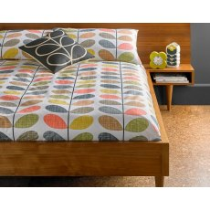 Orla Kiely Scribble Stem Multi Standard Pillowcase Cotton Bedding (Pair)
