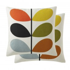 Orla Kiely Multistem Cushion In Multi - 45 x 45 cm