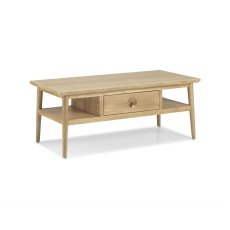 Henley Solid Oak Coffee Table With Drawer