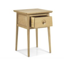 Henley Solid Oak Lamp Table With Drawer