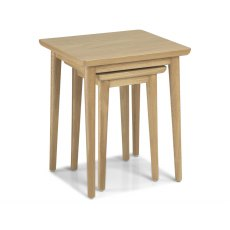 Henley Solid Oak Nest Of 2 Tables