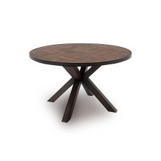 Vermont 130cm Round Dining Table in Light Brown