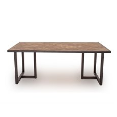 Vermont 130cm Dining Table in Light Brown