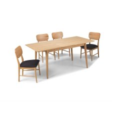 Henley Solid Oak Extending Dining Table Set & 4 Dining Chairs